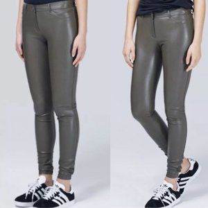 Aritzia Wilfred Rebelle Faux Leather Olive Legging